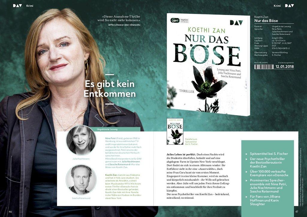 Nina Petri für der Audio Verlag Berlin